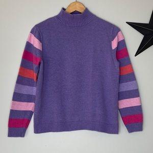 •Pendleton• 100% Cotton Purple Mock-neck Sweater